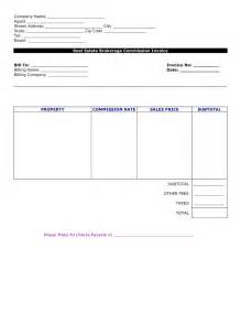 commission invoice template commission invoice template free invoice template 2017