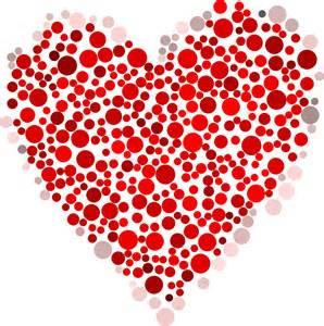 clipart heart dots