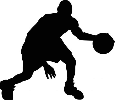 Silhouette Clip Free by Free Silhouette Basketball Cliparts Free Clip