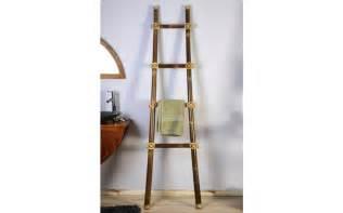 porte serviette pour salle de bain 233 chelle en bambou inca02