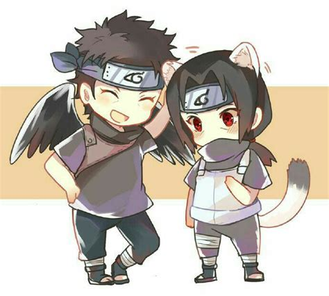 imagenes de itachi kawaii shisui itachi cute cat neko bird crow wings chibi