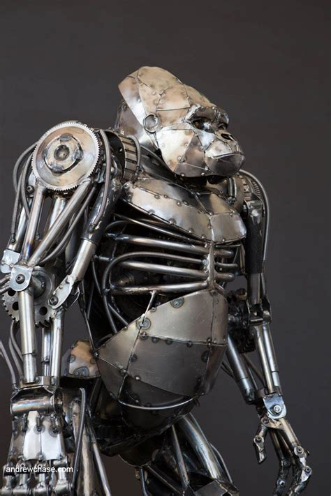 the art of metal andrew chase s amazing gorilla 42concepts amazing design from amazing places