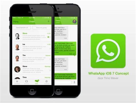 whatsapp themes for ios 7 concept ecco come dovrebbe essere whatsapp su ios 7