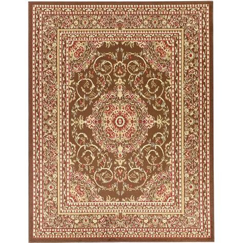 Ottomanson Area Rugs Ottomanson Traditional Medallion Brown 5 Ft 3 In X 7 Ft Area Rug Ryl1078 5x7 The