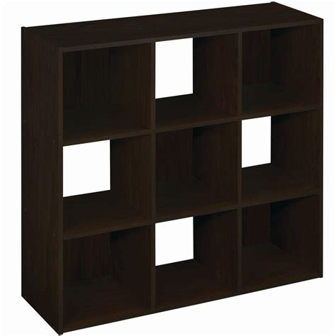 Closetmaid 9 Cube Storage closetmaid 36 in w x 36 in h espresso stackable 9 cube organizer 55908 the home depot