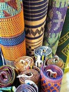 african plastic woven mats  malika  senegal