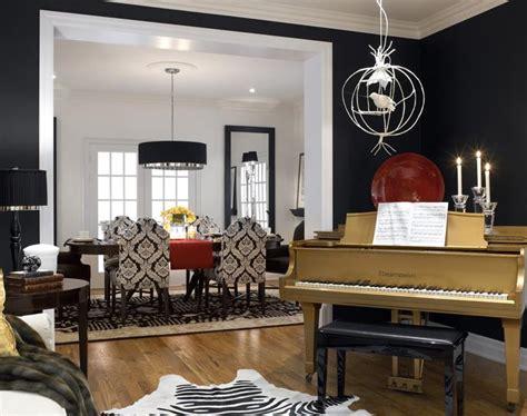 divine design divine design gold piano is centerpiece of black white