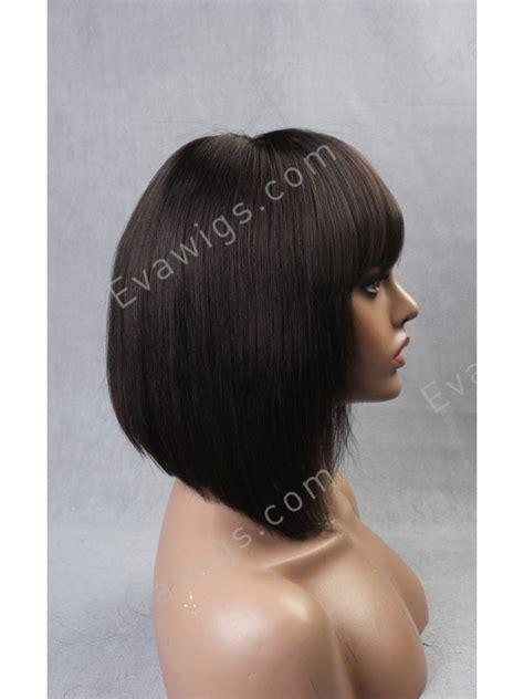 blonde full fringed inverted bobs inverted cut bob with full fringe bangs virgin human hair