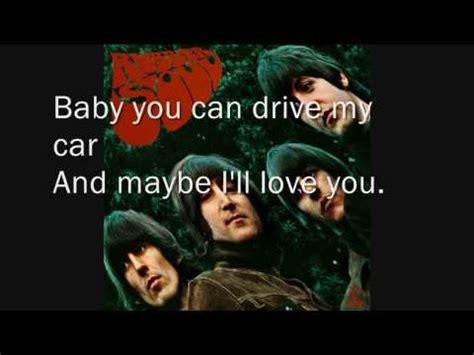 drive by the cars lyrics 1984 youtube youtube drive my car the beatles l lyrics youtube