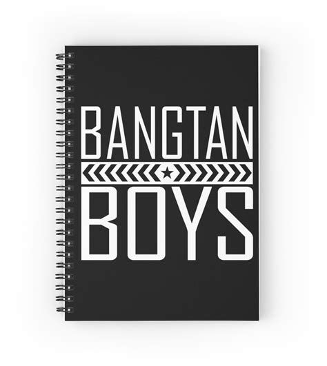 Notebook Kpop Bts New Logo Putih quot bts bangtan boys style 2 quot spiral notebooks by paolaazeneth redbubble