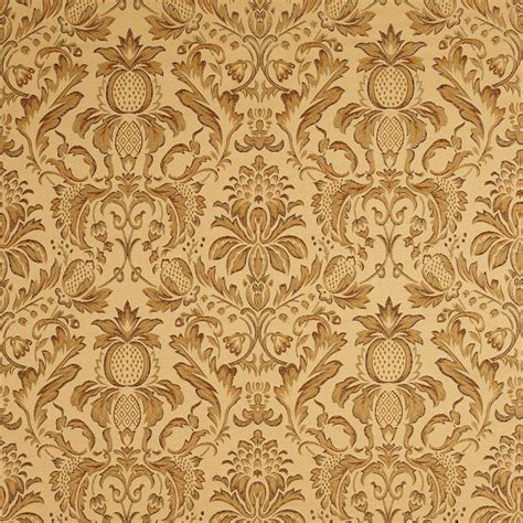 gold and light green heirloom damask upholstery fabric