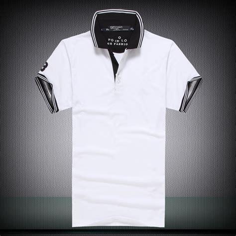 Kemeja Pria Lengan Pendek Kerah Shanghai Polos 2 mode baru lengan pendek logo kuda pria polo ralph klasik gaya kasual untuk mens kebugaran