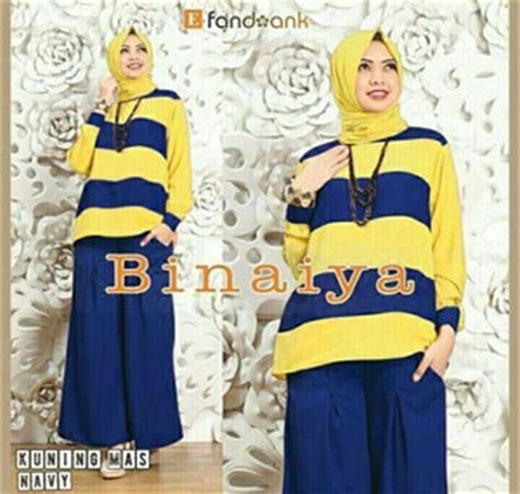 Baju Dan Pakaian Wanita Setelan Kulot Onnie Murah Meriah baju muslim wanita setelan celana kulot 3 in 1 modis