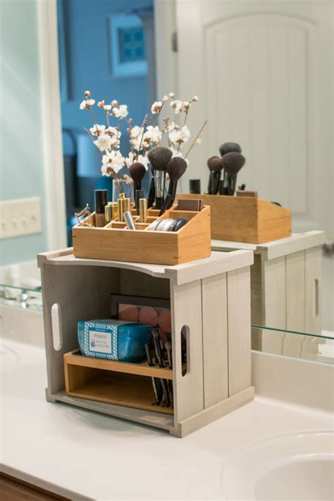 organized vanity love this idea for bathroom counter great ideas