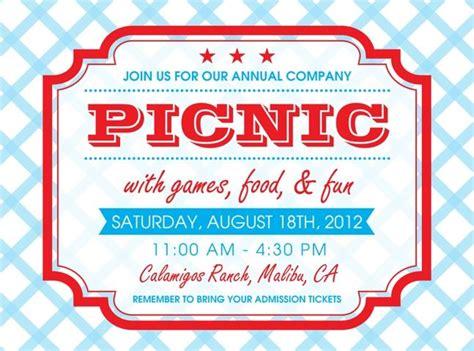 printable invitations to church free printable picnic invitation template google search