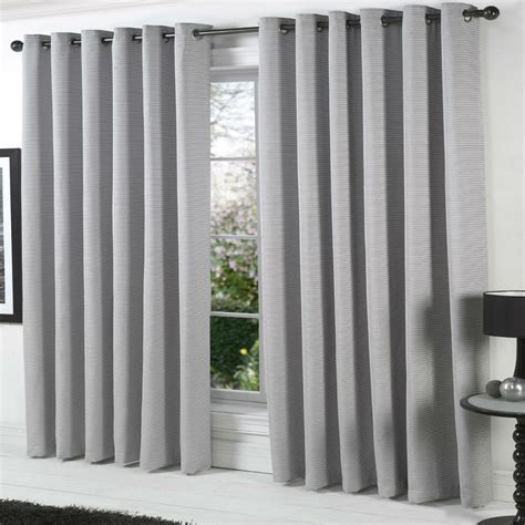 Heavy Grey Curtains Heavy Cotton Rich Curtains Chenille Lined Eyelet Ring Silver Grey 66 90 108 D Ebay