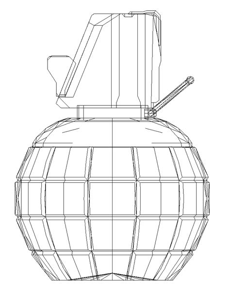 Papercraft Grenade - paper craft new 883 papercraft grenade template