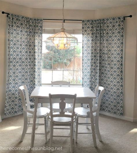 how to put curtains on bay windows diy bay window curtain rod inspiration made simple