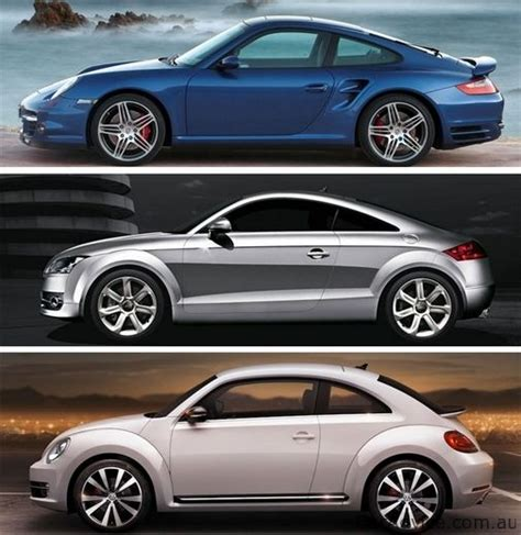 porsche volkswagen beetle volkswagen beetle compared with porsche 911 and audi tt
