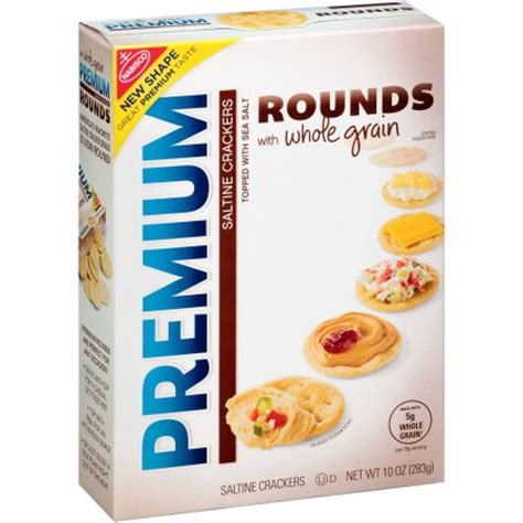 whole grains crackers nabisco premium rounds whole grain saltine crackers 10 oz