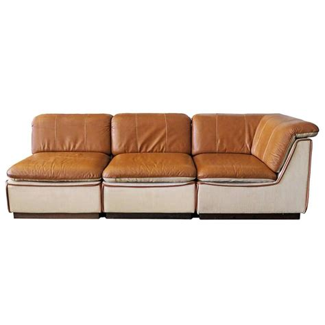 modular leather sofa for sale at 1stdibs