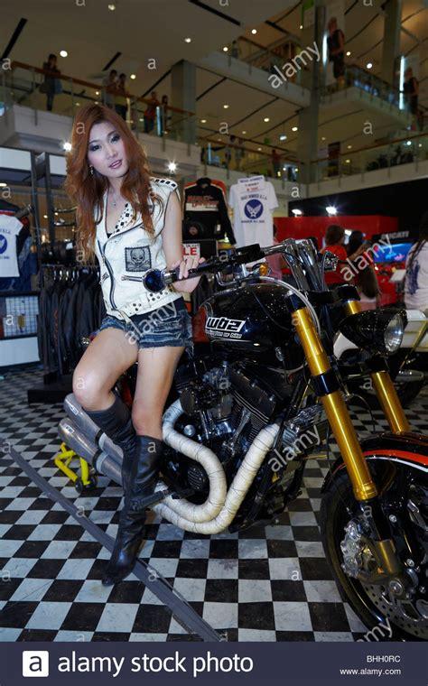 Chopper Motorrad F R Frauen by Harley Davidson Motorcycle Stockfotos Harley