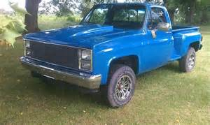 sell used 1985 chevy 3 4 ton 4x4 factory stepside
