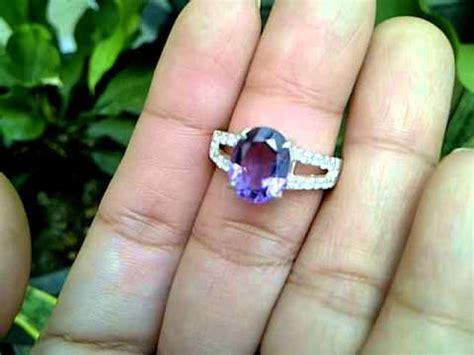 Sale Batu Cincin Asli Kecubung Ring 7 cincin batu amethyst kecubung code 2561