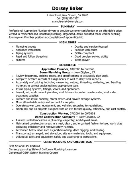 Apprentice Resume Building Maintenance Worker Samples Worker Resumes 2016