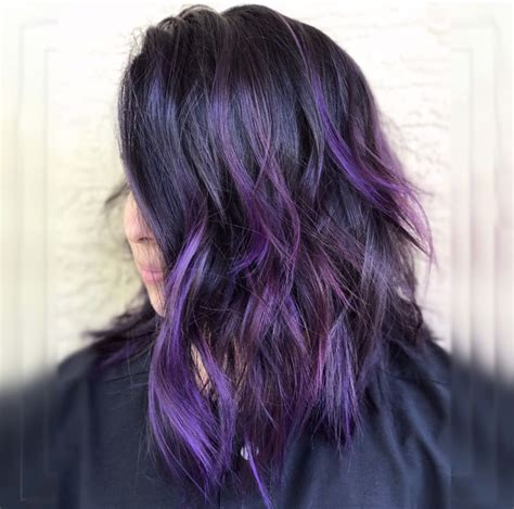 purple black hair color 30 brand new ultra trendy purple balayage hair color ideas