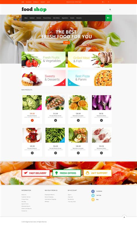 Tasty Shop Magento Theme 52192 Best Food Templates