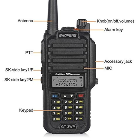 Ready Stock Pofung Baofeng Gt 1 Uhf Waterproof baofeng 1 pack gt 3wp pofung dual band two way radio waterproof dustproof transceiver black
