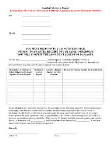 printable landlord damages letter fill printable