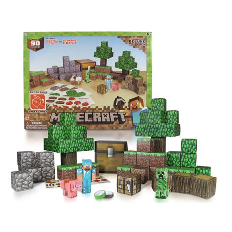 Minecraft Papercraft Deluxe Pack - minecraft paper craft overworld deluxe set bring