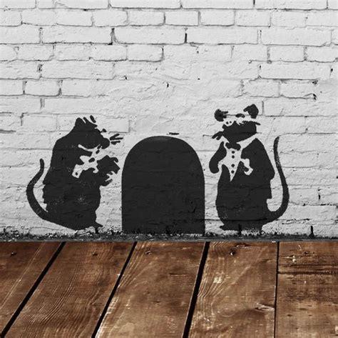 banksy doormen rats stencil ideal stencils