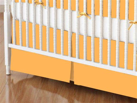 Orange Crib Bed Skirt Crib Skirt Solid Orange Jersey Knit Crib Skirts Sheets Sheetworld