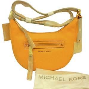 179 67 Set Orange michael by michael kors rhea sun yellow leather zip small
