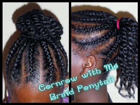 162 child hair care braided ponytail bun youtube