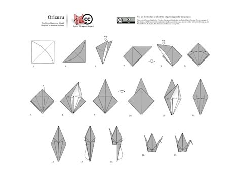 Steps To An Origami Crane - orizuru