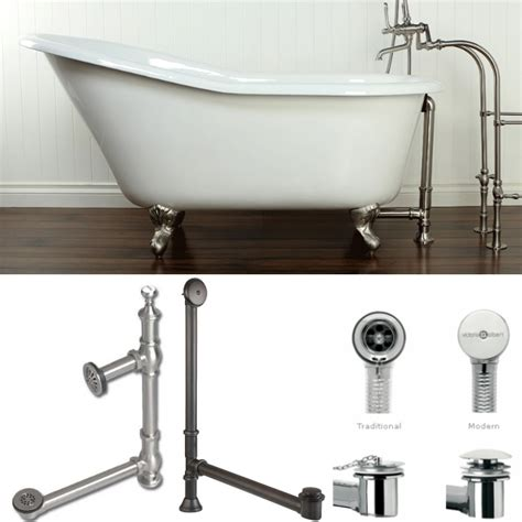 bathtub piping plumbing how to drain a free standing bathtub home