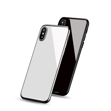 Iphone X Mirror iphone x back cover mirror effect ceramic glass housing