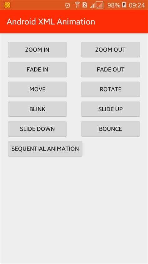 layout animation in android xml android xml animations exles viral android