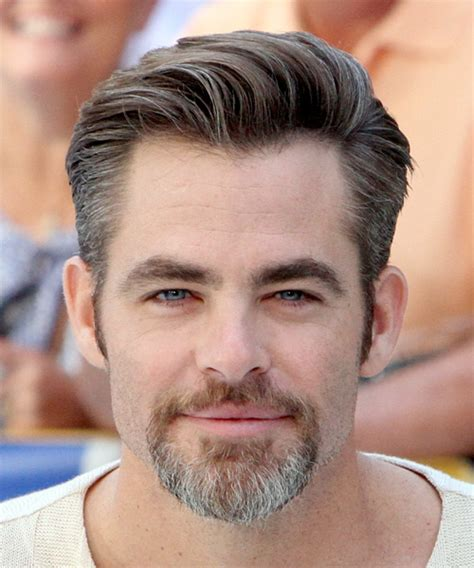 formal hairstyle for round face man chris pine short straight formal hairstyle medium brunette