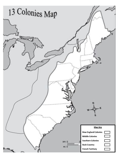 blank us map 13 colonies outline of the 13 colonies map blank images