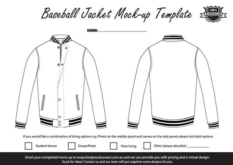 bomber jacket design template ex baseball exodus custom made baseball jacket design