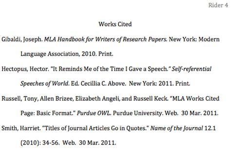 How To Format The Works Cited Page In Mla Style Jerz S Literacy Weblog Works Cited Page Template