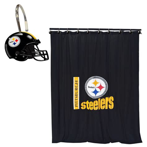 steelers bathroom nfl pittsburgh steelers bathroom set football shower