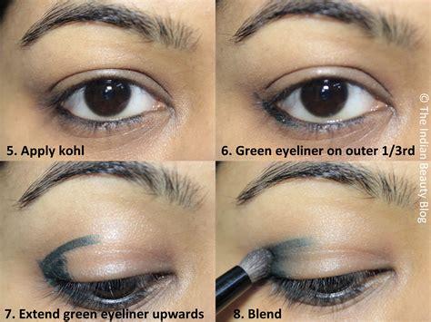 tutorial eyeshadow pencil golden green smokey eye tutorial