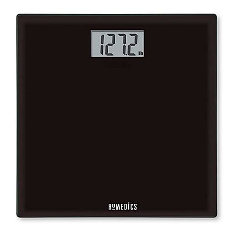 homedics bathroom scale homedics 174 glass digital bathroom scale in black www bedbathandbeyond com