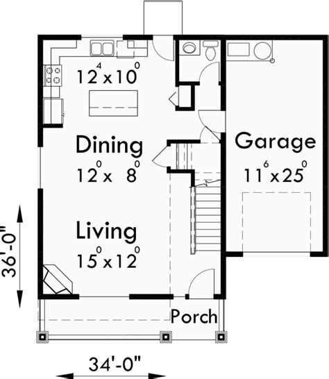 narrow depth house plans narrow depth house plans 28 images narrow house plan no 141 3 bed 2 bath garage 3